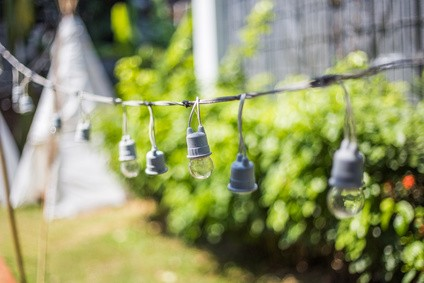 String Lights Make Your Garden Glow
