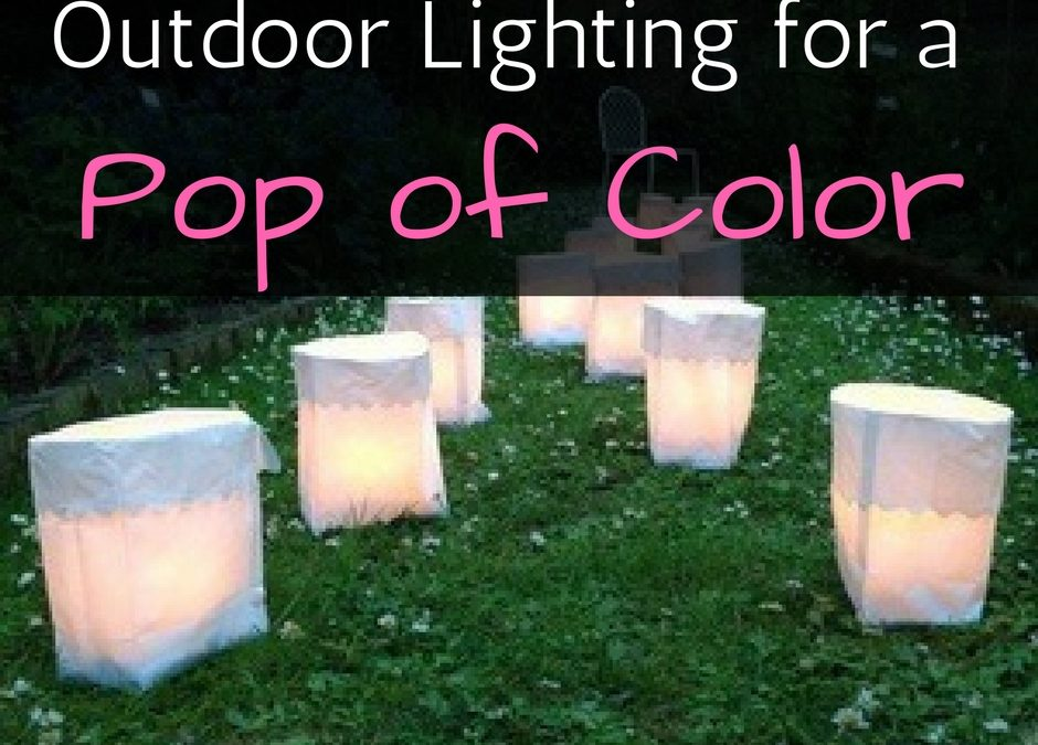 Outdoor Lighting for a Pop of Color