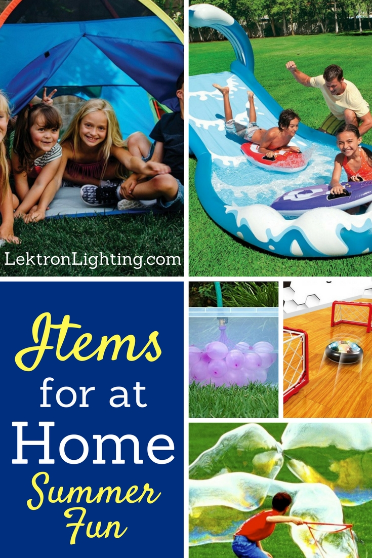 The best items for at home summer fun don't require you to travel or plan too far ahead, just head outside and get started.