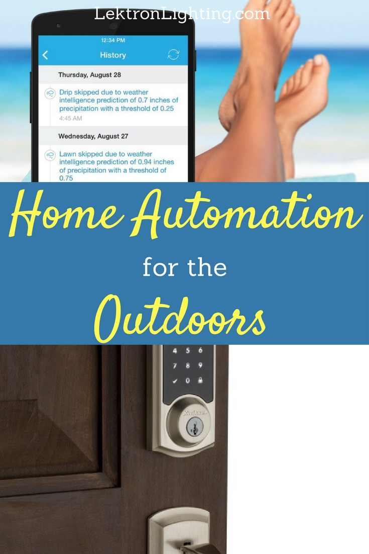 Smart home automation isn't limited to the rooms inside you can also automate your outdoor devices as well.