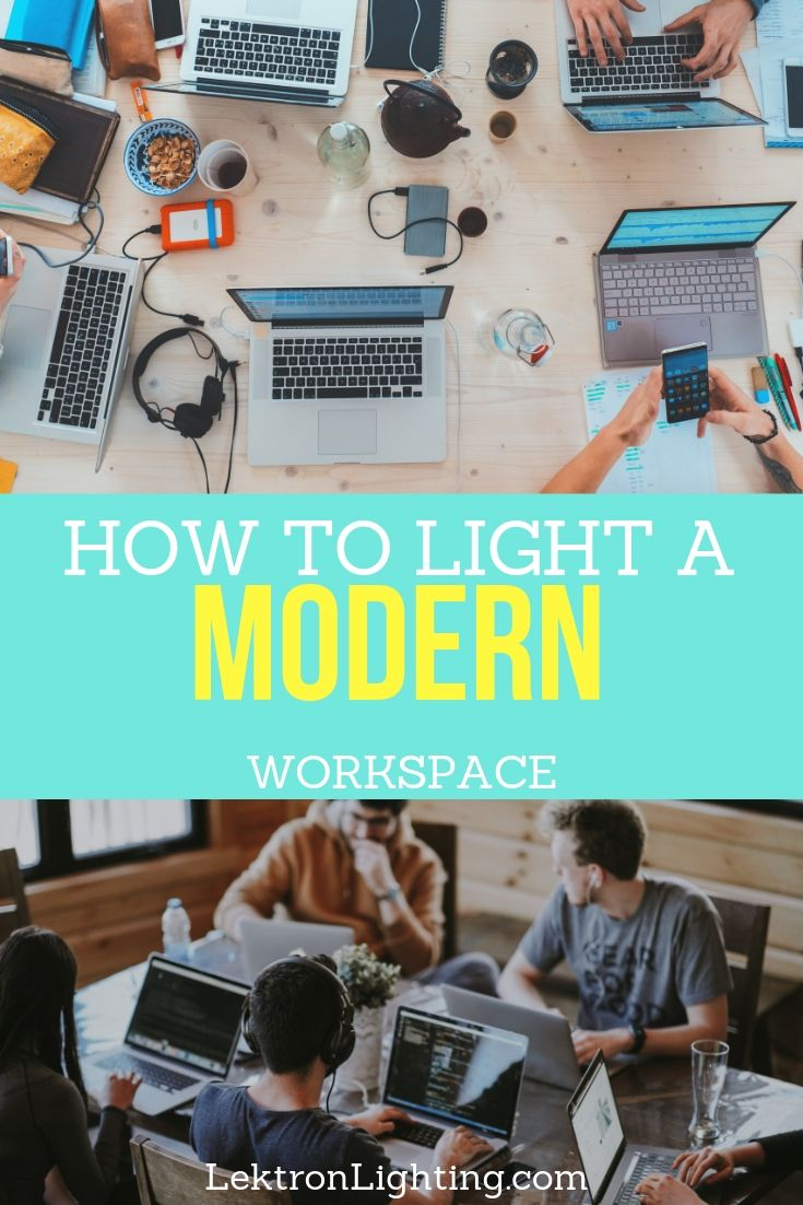 You can learn how to light a modern workspace in order to improve overall productivity in your space and in others around you.