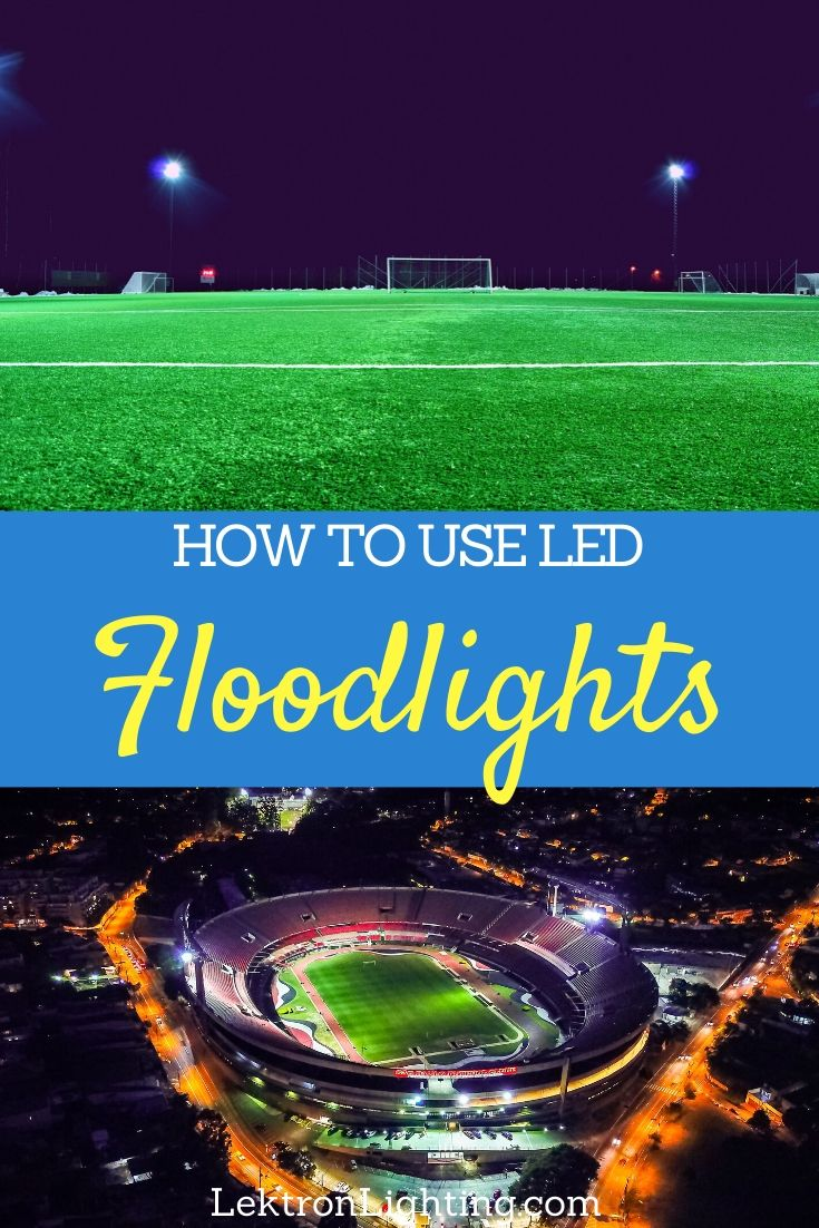 The possibilities are endless once you know how to use LED floodlights to light up large areas without using too much energy.