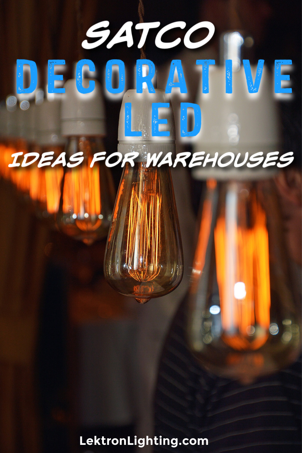 You could use Satco decorative LED bulbs ideas to help liven up certain parts of your warehouse for your employees and guests.