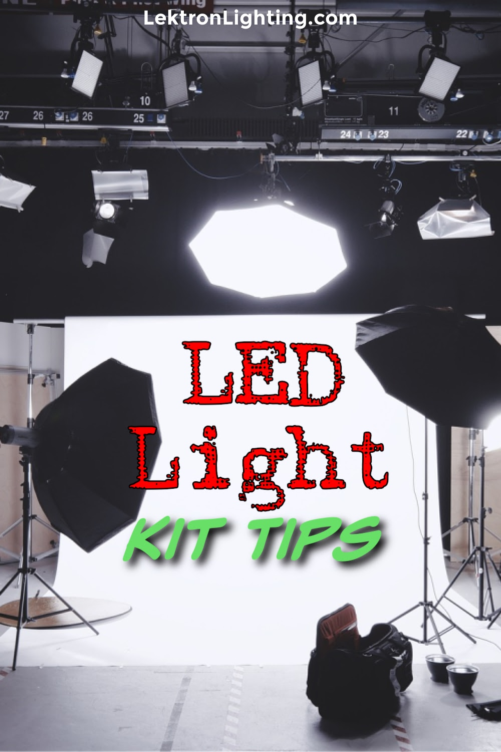 LED lighting kit tips are ways you can utilize LED lights to help improve your studio and make a splash in the world of photography or videography.