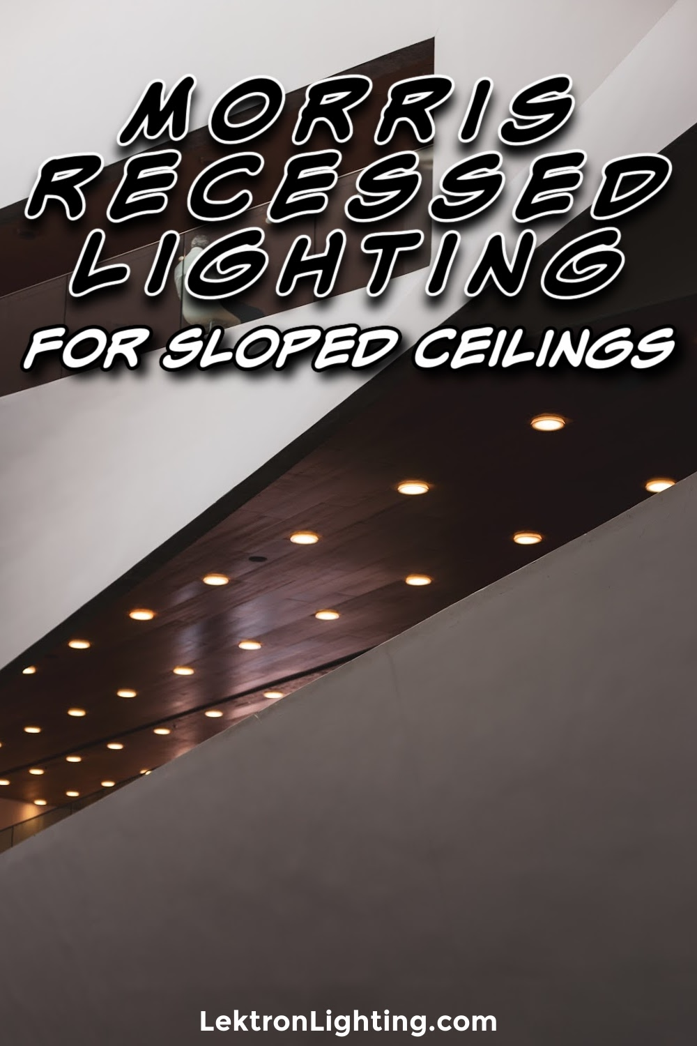 Morris recessed lighting for sloped ceilings can be utilized in specific ways that make them a better option for many situations.