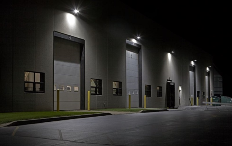 Tips for Buying Wall Pack LED Two Big Warehouse Doors with Wall Pack Lighting Above it
