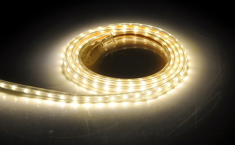 LED Floor Lights an LED Strip Rolled Up