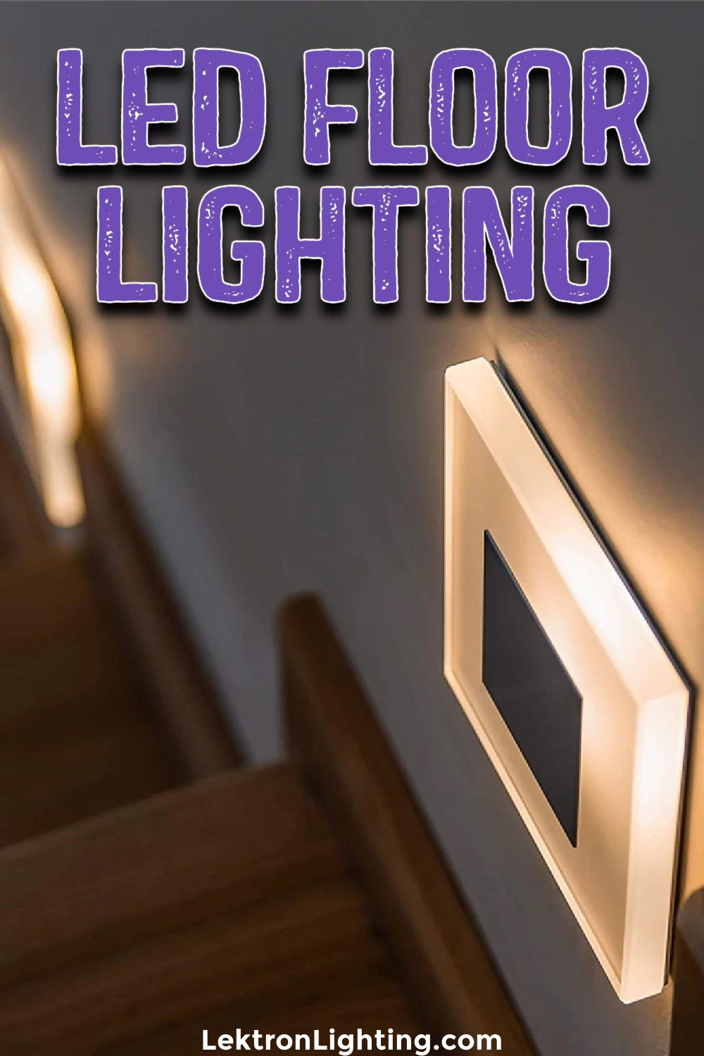 You can use LED floor lights for safety or you can use these lights for something more creative and the results will be amazing.