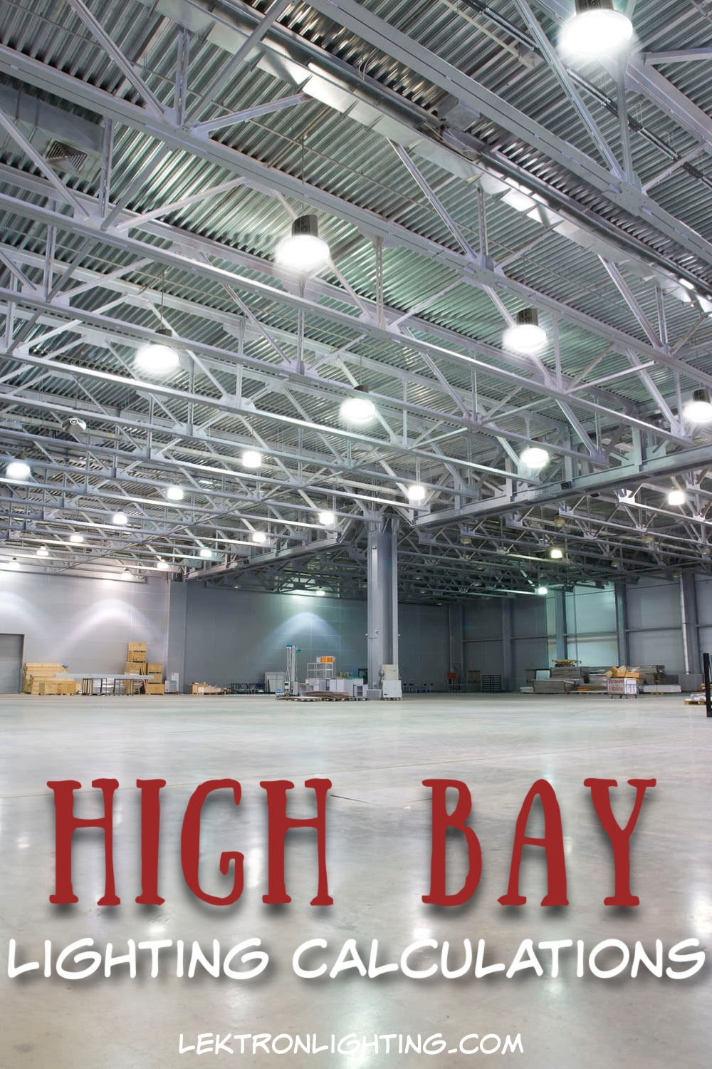 An LED high bay lighting calculator tells you how many fixtures you need and how many lumens are needed to light a space properly.