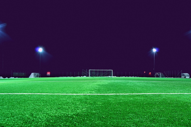 Satco LED HID Replacement Soccer Field at Night