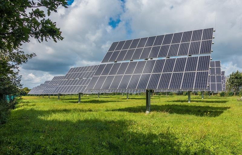 Business Energy Efficiency Ideas Solar Panels in a Field