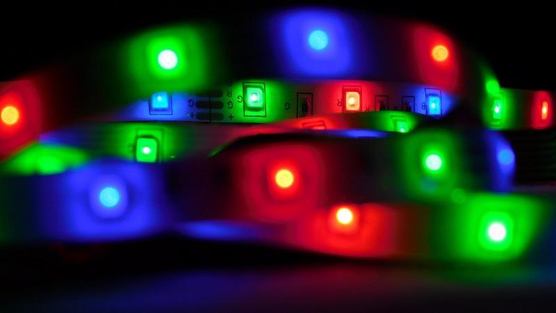 LED vs Halogen Close Up of an LED Light Strip