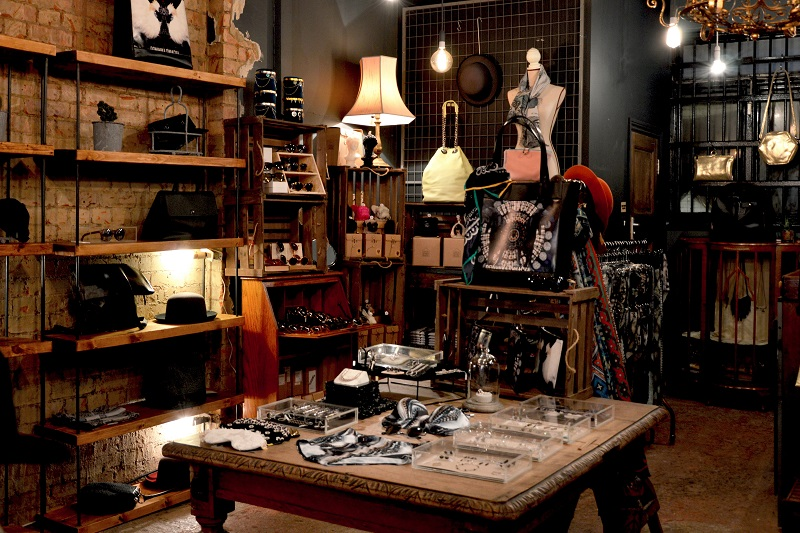 Does Lighting Affect Vision Inside of a Boutique Store with Random Items on Shelves for Sale
