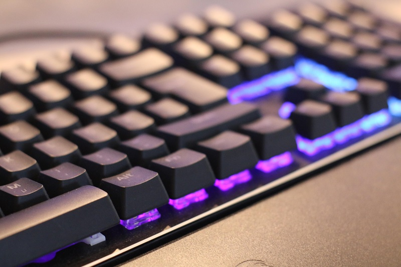 Types of LED Lights Close Up of a Keyboard with LEDs Under the Keys